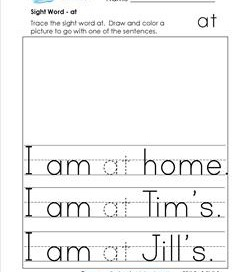 sight word at