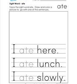 sight word ate