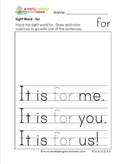 sight word for