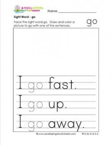 sight word go