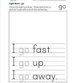 sight word go