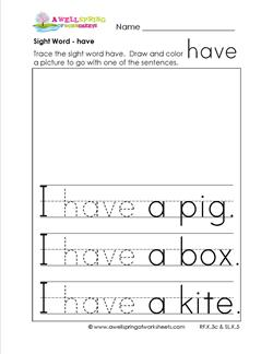 This is an image of Wild Sight Word Practice Worksheet