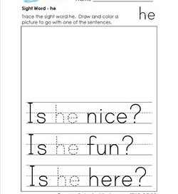 sight word he