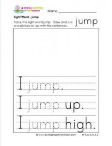 sight word jump