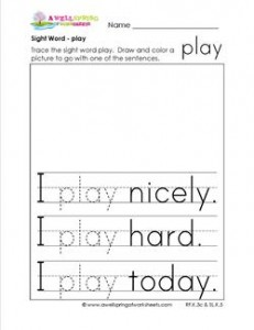 sight word play