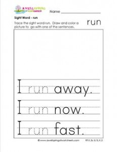 sight word run