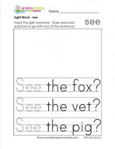 sight word see