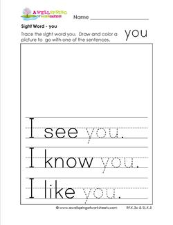 sight word you