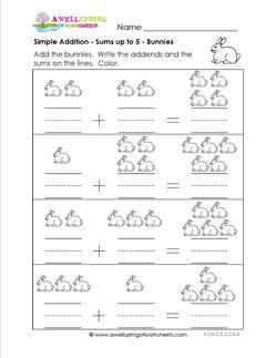 simple addition - bunnies
