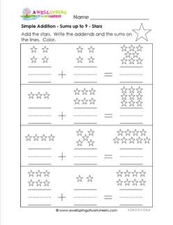 simple addition - stars