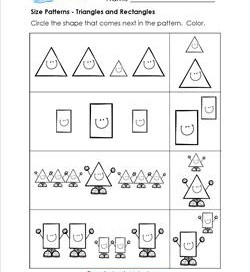 Size Patterns - Triangles & Rectangles - Pattern Worksheets
