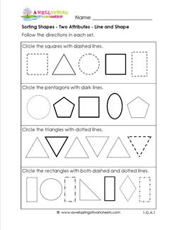Sorting Shapes By Attributes Worksheets For Kindergarten - math ...