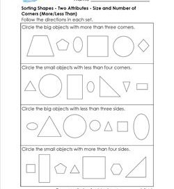 sorting shapes w two attributes 1st grade geometry worksheets. Black Bedroom Furniture Sets. Home Design Ideas