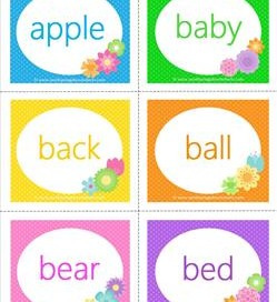 spring dolch sight word flashcards nouns