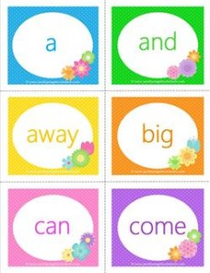 spring dolch sight word flashcards pre-primer