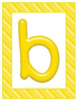 stripes and candy colorful letters lowercase b