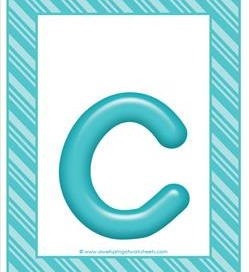 stripes and candy colorful letters lowercase c