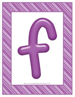 stripes and candy colorful letters lowercase f