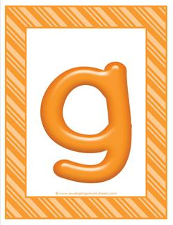 stripes and candy colorful letters lowercase g