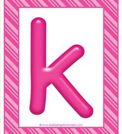 stripes and candy colorful letters lowercase k