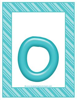 stripes and candy colorful letters lowercase o