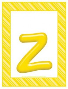 stripes and candy colorful letters lowercase z