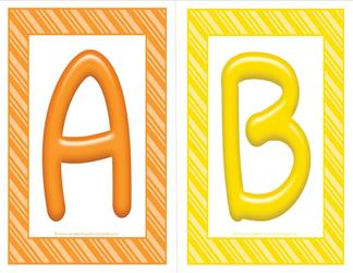 stripes and candy colorful letters - uppercase AB