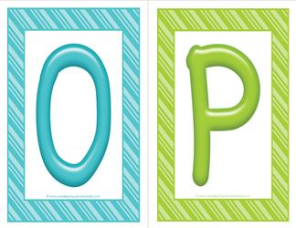 stripes and candy colorful letters - uppercase OP