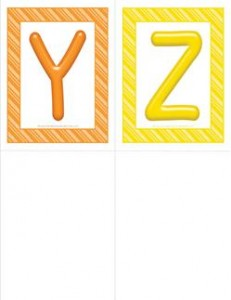 stripes and candy colorful letters - uppercase Y-Z