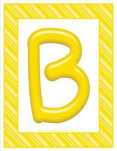stripes and candy colorful letters - uppercase b