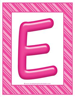 stripes and candy colorful letters - uppercase e