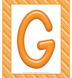 stripes and candy colorful letters - uppercase g