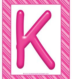 stripes and candy colorful letters - uppercase k