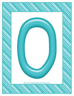 stripes and candy colorful letters - uppercase o