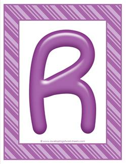 stripes and cnady colorful letters - uppercase r