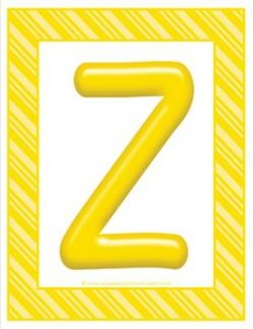 stripes and candy colorful letters - uppercase z
