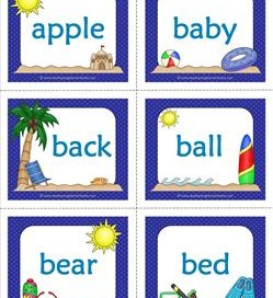 summer dolch sight word flashcards nouns