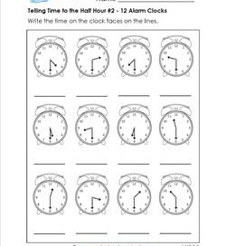 1st Grade Telling Time Worksheets | A Wellspring of Worksheets