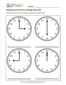 Telling Time to the Hour with Big Clocks #2