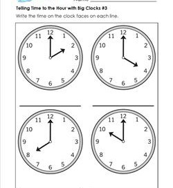 telling time worksheets and crafts analog and digital clocks. Black Bedroom Furniture Sets. Home Design Ideas