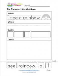 the 5 senses - i see a rainbow