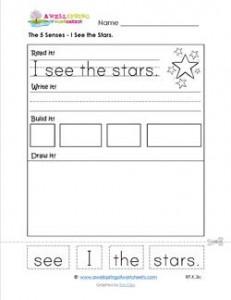 the 5 senses - I see the stars