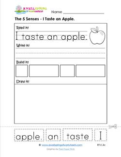 the 5 senses - i taste and apple