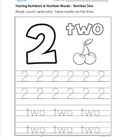 Worksheets Number 2 Worksheet For Kindergarten number 2 tracing worksheet worksheets twisty noodle