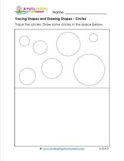 tracing shapes and drawing shapes - circles