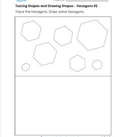 tracing shapes and drawing shapes - hexagons 2