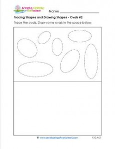 tracing shapes and drawing shapes - ovals 2