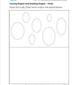 tracing shapes and drawing shapes - ovals
