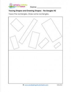 tracing shapes and drawing shapes - rectangles 2