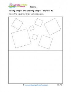 tracing shapes and drawing shapes - squares 2